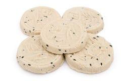 5 gâteaux de riz de régime Photos libres de droits