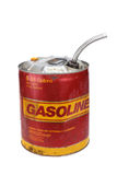5 gallon gasoline can. 5 gallon gas can with pour spout stock photos