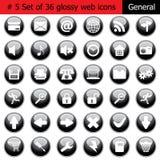 5 generał ikony set