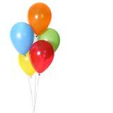5 globos de la celebración del cumpleaños Imagenes de archivo