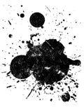 5 grunge splat 皇族释放例证
