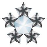 5 gwiazd fotografia stock