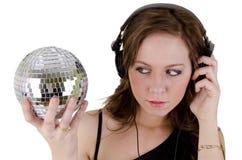 5 headphonekvinnabarn Arkivbild