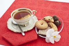 5 herbata czas Obrazy Royalty Free