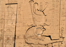 5 hieroglyphs edfu ναός Στοκ φωτογραφίες με δικαίωμα ελεύθερης χρήσης