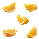 5 hohe Res-Orangenpartitionen Stockfotos