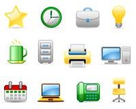 5 ikon biura set Obrazy Royalty Free