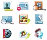5 ikon część fotografii wektor Zdjęcia Stock