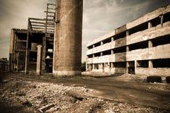 5 industriali abbandonati Fotografia Stock Libera da Diritti