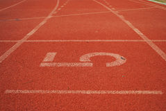 5 ingen löparbana Arkivbild