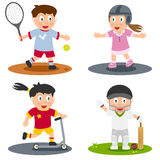5 inkasowy dzieciaków sport Fotografia Royalty Free