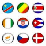 5 inställda flaggor Arkivfoto