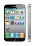 5 jabłek pojęcia iphone nowy Obrazy Royalty Free