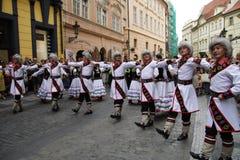 5 jarmarków festiwalu folklor Prague Fotografia Royalty Free