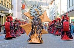 5 karnevalschweizare Arkivbild