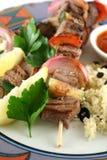 5 kebabs говядины Стоковое Фото