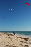5 kite surfers Royalty Free Stock Photo