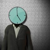 5 klocka o som avslutar tid Arkivbild
