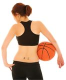 5 koszykówek dziewczyna Fotografia Royalty Free