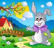 5 królików Easter wizerunku temat royalty ilustracja