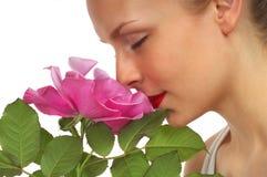 5 kwiat dziewczyną Zdjęcie Royalty Free