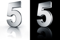 5 liczby czarny białe podłogi Zdjęcie Royalty Free
