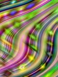 5 mångfärgade wavy för kurvor Royaltyfria Foton