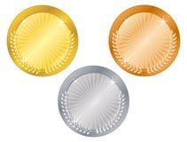 5 médailles illustration libre de droits
