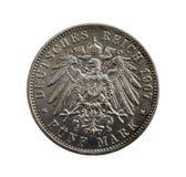 5 marcos alemãns velhos Fotos de Stock Royalty Free