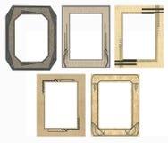 5 marcos retros de la foto Fotografía de archivo libre de regalías