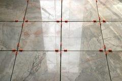 5 marmortegelplattor Fotografering för Bildbyråer