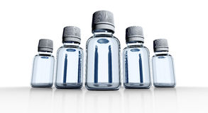 5 medical bottles Stock Photo