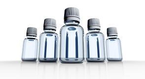 5 medische flessen Stock Foto