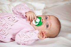 5 mesi di neonata Immagine Stock Libera da Diritti