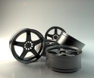 5 metal wheels Royalty Free Stock Images
