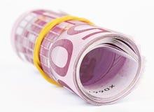 5 mila euro rotolati in su Fotografie Stock Libere da Diritti