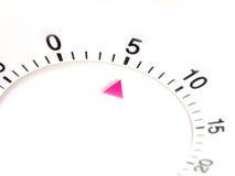 5 Minuten auf Timer lizenzfreies stockbild