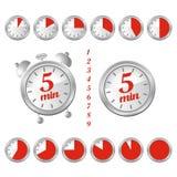 5 minuten klok vector illustratie