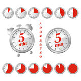 5 minutes clock Royalty Free Stock Photo