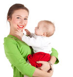 5 month baby boy with mother Royalty Free Stock Image