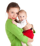 5 month baby boy with mother Royalty Free Stock Photography