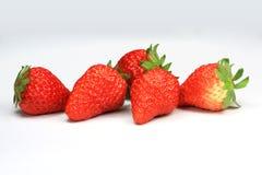 5 morangos Foto de Stock