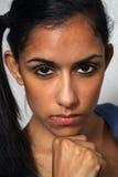5 multiracial kvinnabarn för härlig headshot Royaltyfri Fotografi
