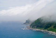 5 nad mgły morze Obrazy Stock