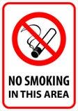 5 non fumatori (+ vettore) Fotografie Stock Libere da Diritti