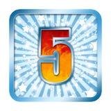 5 numéros de la célébration cinq d'alphabet Images libres de droits