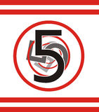 5 numerów Obraz Stock