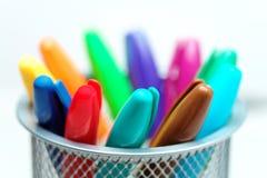 5 oświadczenia kolorowe widok Zdjęcie Stock