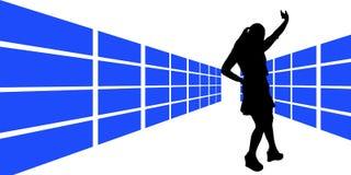 5 obrazkowa kobieta Zdjęcia Stock