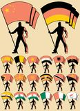 5 okazicieli flaga royalty ilustracja